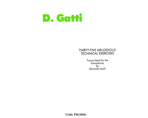 Gatti 35 Melodious Technical Exercises