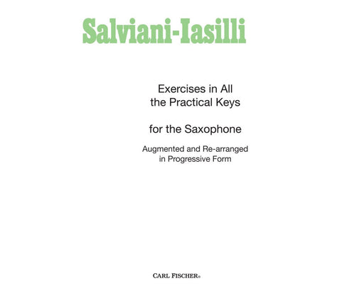 Salviani-Iasilli Excercises In All The Practical Keys