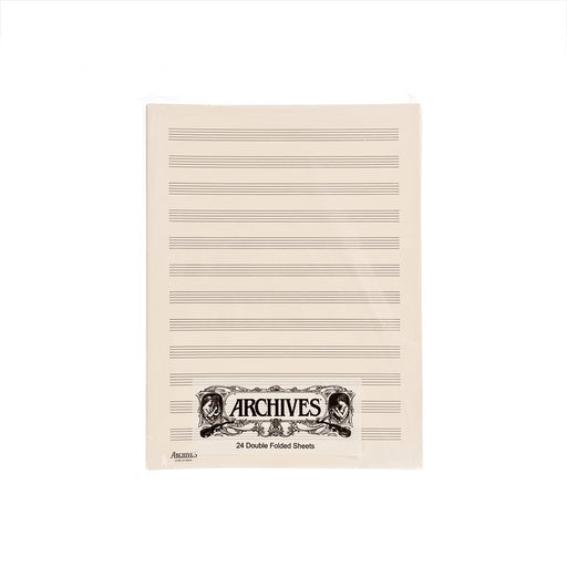 Archives 10 Stave Double Folded Manuscript Paper Sheets