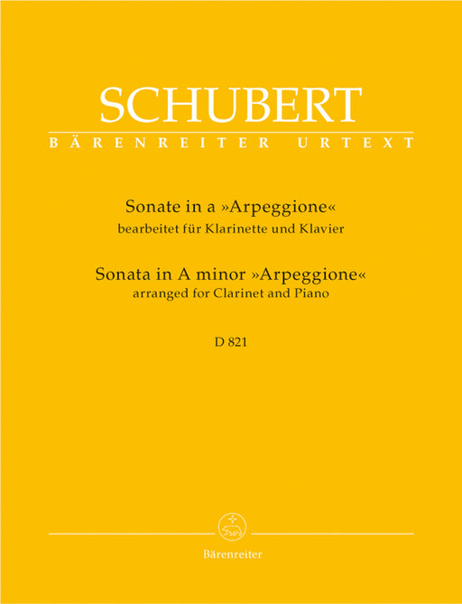 "Schubert Sonata in A minor ""Arpeggione"" arranged for Clarinet & Piano"