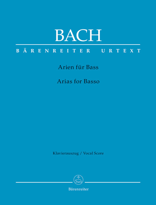 Bach Arias for Basso (with Accompanying Brochure (english))