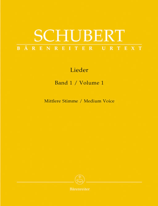 Schubert Lieder, Volume 1 (medium voice)