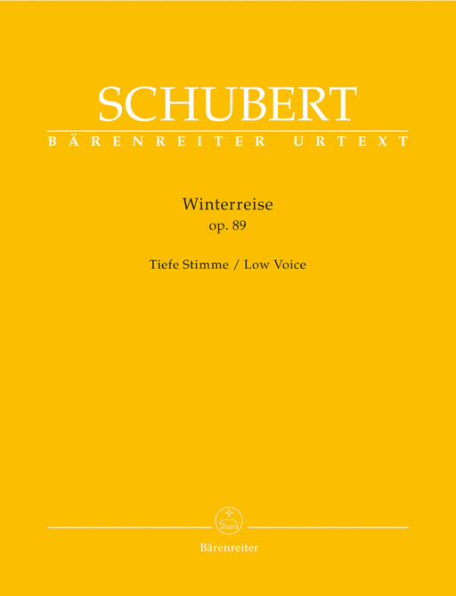 Schubert Winterreise op. 89 D 911 (Low Voice)
