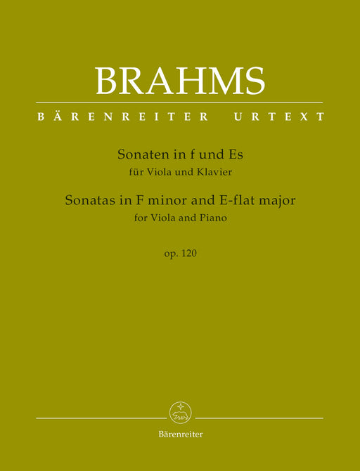 Brahms Sonatas in F minor and E-flat major for Viola and Piano op. 120