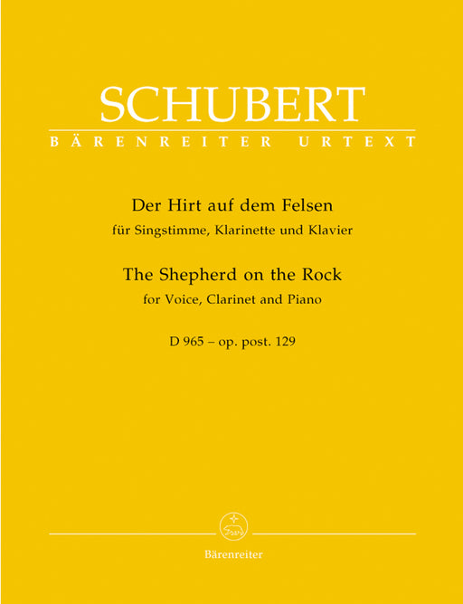 Schubert The Shepherd on the Rock op. post.129 D 965