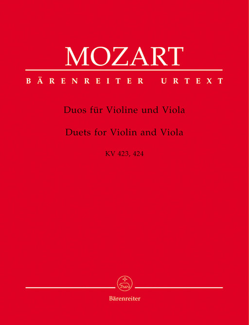 Mozart Duets for Violin and Viola K 423 and K 424