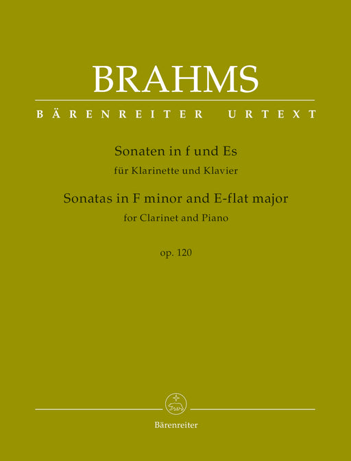 Brahms Sonatas in F minor and E-flat major for Clarinet and Piano op. 120