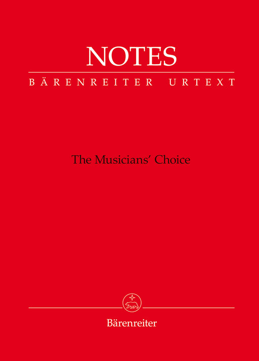 Notes -The Musician's Choice- (Bärenreiter notebook with red cover)