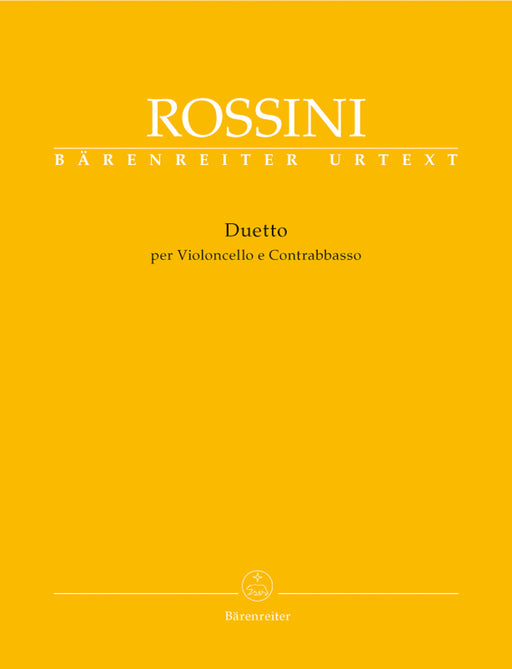 Rossini Duetto for Violincello and Contrabass