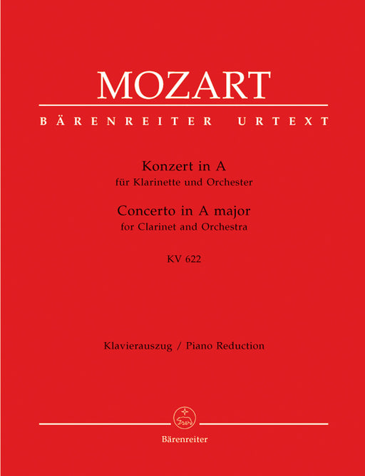 Mozart Concerto for Clarinet and Orchestra A major K. 622