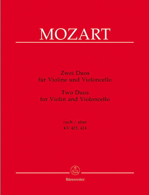 Mozart 2 Duos for Violin and Violoncello (after Duos for Violin and Viola K 423 and 424)