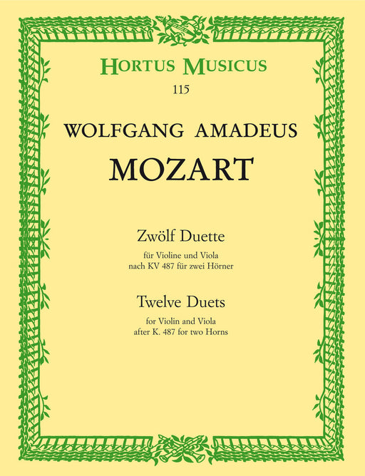 Mozart 12 Duets for Violin and Viola K 487