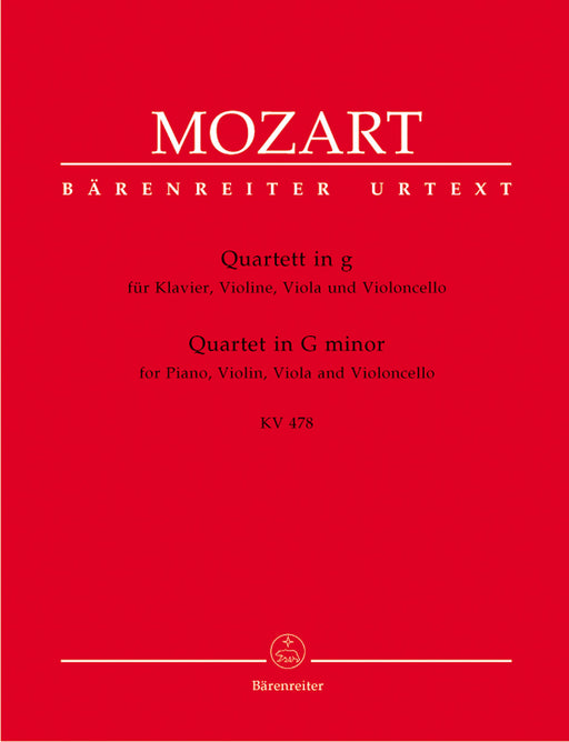 Mozart Quartet for Piano, Violin, Viola and Violoncello in g minor K 478