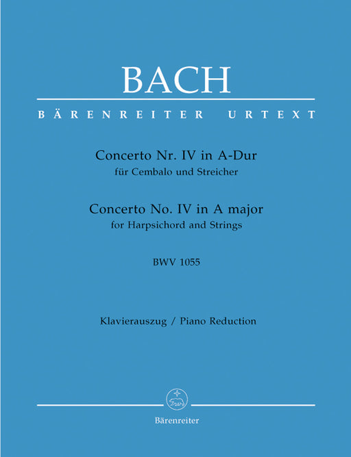 Bach Concerto for Harpsichord and Strings Nr. 4 A major BWV 1055