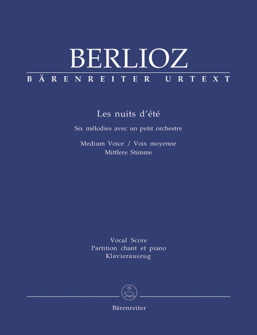 Berlioz Les nuits d'été for solo voice and Orchestra op. 7 Hol. 81B -Six Songs- (Version for medium voice)
