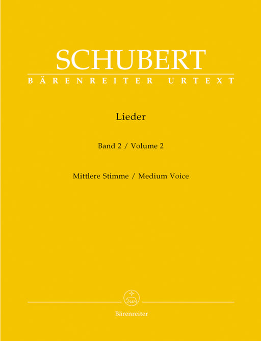 Schubert Lieder, Volume 2 (Medium voice)