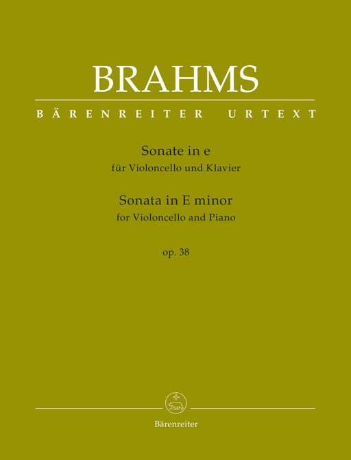 Brahms Sonata for Violoncello and Piano E minor op. 38