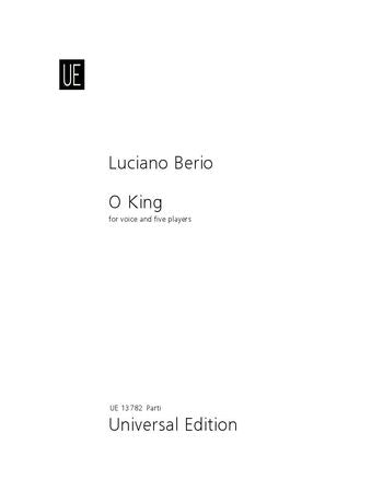 Berio O King for voice and 5 players
