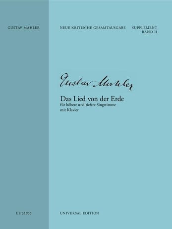 Mahler: Das Lied von der Erde for high and low voice and piano