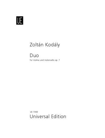 Kodály Duo for violin and cello Opus 7