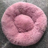 KEEP STAYING REAL Store Bed & Mattress light-pink / XXL Diameter 100cm Anti-Anxiety/Calming Fluffy Dog Bed/Cat Bed in Donut Shape To Calm Your Dog Anxiety 4