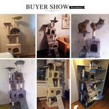 Multi-layer Cat Furniture/Tree with Ladder And Toys Sisal Scratching Post Climbing Jumping Frame With Nest Cat Toy - Sloppylab
