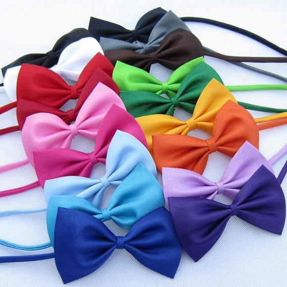 Sloppylab Accesories 50/100 pcs/lot Mix Colors Pet Grooming Accessories/Adjustable Bowtie for Rabbit/Cat/Dog