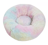 sloppylab Bed & Mattress rainbow / XL Diameter 80cm Anti-Anxiety Fluffy Dog Beds/Cat Beds in Donut Shape To Calm Your Dogs Anxiety