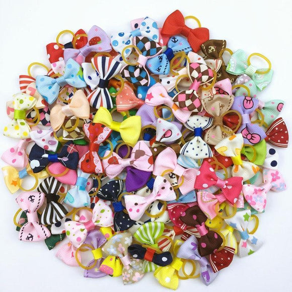 (100 pieces/lot) Cute Ribbon/Grooming Accessories for Pets - sloppylab