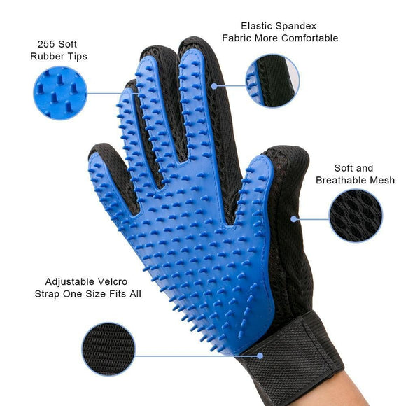 sloppylab Grooming [Amazon Best Selling] Glove For Pet Grooming, Hair Brush, Cleaning Deshedding