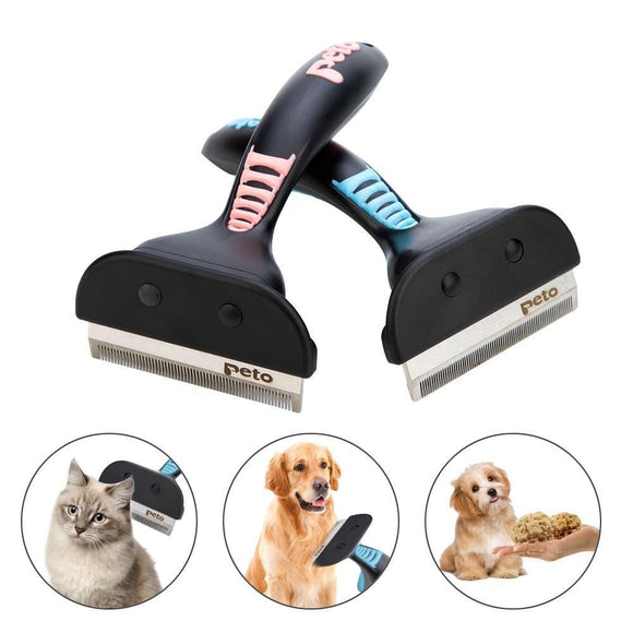 Hair Deshedding Comb/Grooming Tool/Hair Removal Comb For Cats & Dogs - Sloppylab