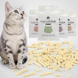 Sloppylab Litter & Toilet 6L Biodegradable,Fast Clumping Cat Litters Made by Natural Tofu