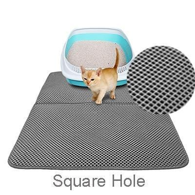Sloppylab Mat & Pad Grey 1 / 40x50cm Double-Layer Cat Litter Mat/Trapper Mats with Waterproof Bottom Non-slip Pet Litter Cat Mat
