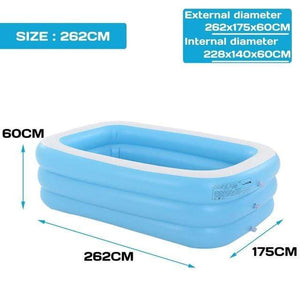 Thicken Inflatable Swimming Pool Adults Kids Pool Bathing Tub Outdoor Indoor Swimming Pool inflatable bathtub 110cm-305cm - Sloppylab