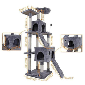 Cat Tree with Ladder Scratching/Wood Climbing Tree for Cat Climbing/Cat Furniture/Scratching Post - Sloppylab