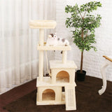 Cat Tree House/Multi Level Climbing Stratching Post for Cat Kitten - sloppylab
