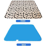 Sloppylab Pet Store Mat & Pad Coffee-Bone-Paw / 70x80CM / China Waterproof Reusable Dog Bed Mats, Urine Pad for Puppy Pee, Fast Absorbing Pad Rug, Good for Pet Training