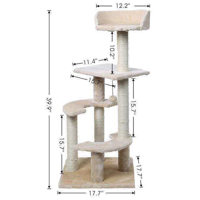Sloppylab Pet Store WJ0209-M / L / United States Pet Cat Jumping Toy with Ladder Scratching Wood Climbing Tree for Cat Climbing Frame Cat Furniture Scratching Post #0201