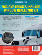 Load image into Gallery viewer, 'Big Rig' Truck Sunshade Window Reflector Kit