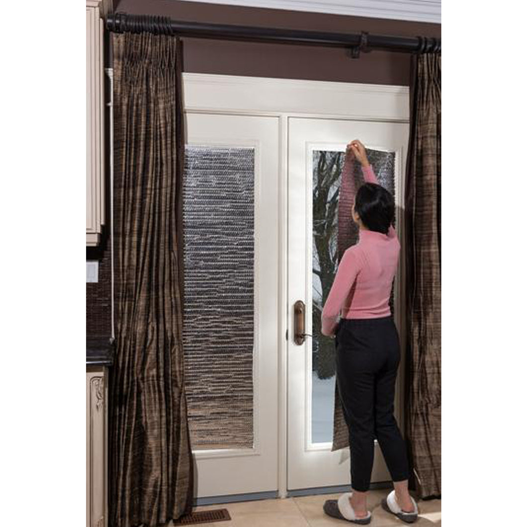 "Glass Door Thermal Insulation Panels: 84"" X 48"" (Double Thickness) 2 Panels/Kit"