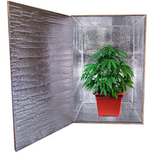 "Load image into Gallery viewer, Cannabis DIY Reflective Thermal Foil Insulation Kit For Personal Grow Box 24""X 24""X 24"""