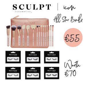 Sculpt Icon // All Star Bundle 15 Piece Brush Set & Lashes x 6 - Sculpt Cosmetics