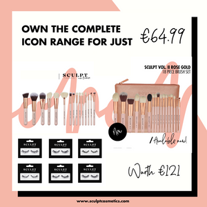 Complete Bundle Sculpt Icon // 18 & 15 Piece Brush Sets Plus Lashes x 6 - Sculpt Cosmetics