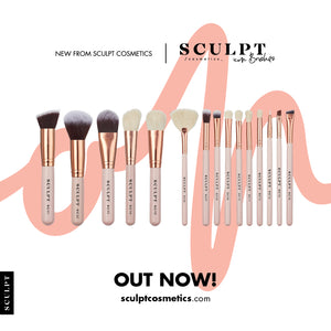 Sculpt Icon // 15 Piece Rose Gold Brush Set
