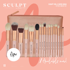 Sculpt Icon Vol II // 18 Piece Rose Gold Brush Set - Sculpt Cosmetics