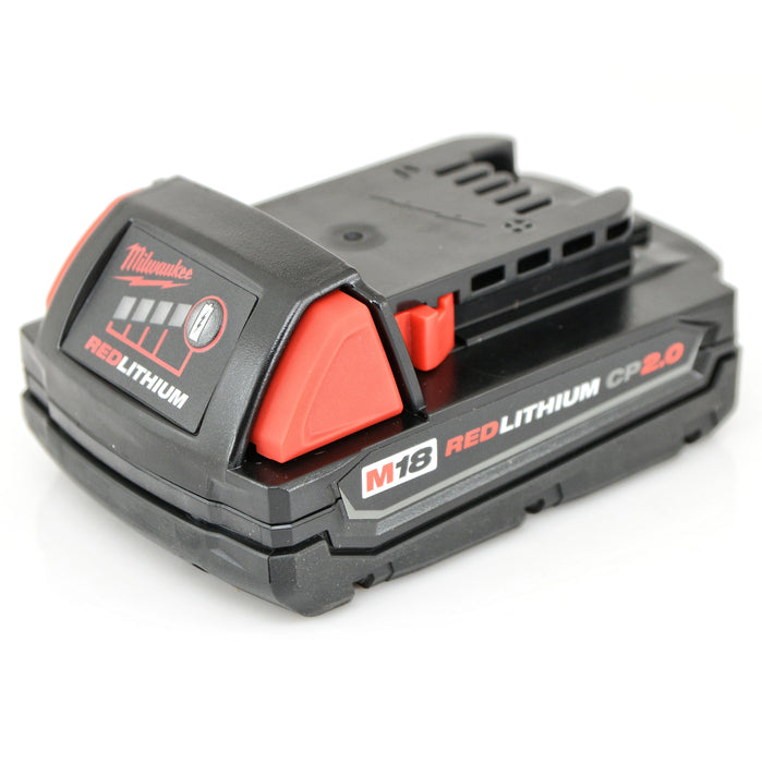Milwaukee 2850-20 M18 Brushless Cordless 1/4 in. Impact Driver 2.0 Ah Batteries