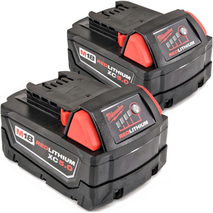 Milwaukee M18 Red Lithium 48-11-1852 5.0 AH Extended Capacity Battery Packs