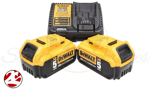 DeWALT 20V MAX 2-Pack 5.0Ah Batteries & Charger
