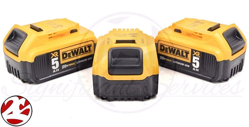 3 NEW DeWalt DCB205 20V MAX 5.0 Ah Lithium Ion 5 Amp Battery Pack W Fuel Gauge