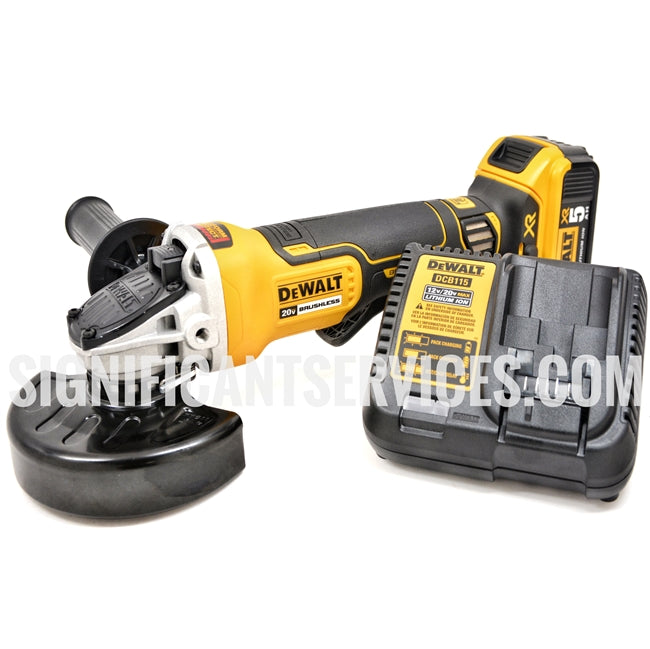 DeWALT DCG413 20V MAX XR Cordless 4 1/2 Brushless Angle Grinder Brake 5.0 AH Kit